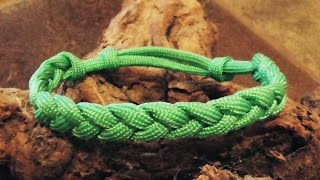 getlinkyoutube.com-How To Make An Adustable Paracord Rastaclat Friendship Bracelet With Sliding Knot