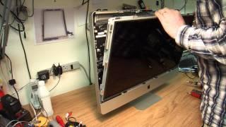 "getlinkyoutube.com-How to disassemble 27"" Apple iMac for repair or upgrade."