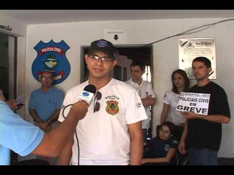 Greve Polícia civil de Goiás, matéria com entrevista em Porangatu.