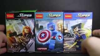 getlinkyoutube.com-Lego DC Vs Marvel SuperHeroes Decool Bootleg 0147 - 0152 Review
