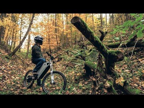 ECOROCKET | First Uncut Ride - Silent Electric All-Terrain Freeride Bike