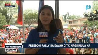 NEWS BREAK: Freedom Rally sa Davao City, nagsimula na