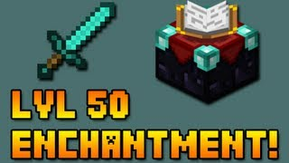 getlinkyoutube.com-Minecraft: Level 50 Enchanted Sword!