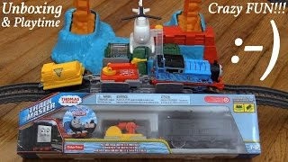 getlinkyoutube.com-Search and Rescue Diesel Trackmaster Unboxing + Trackmaster Thomas and Mike + Minions