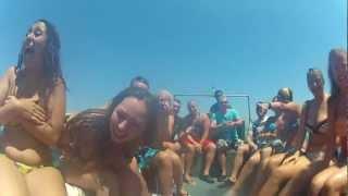 getlinkyoutube.com-Crazy Boat Ride, Kavos 2012