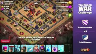 getlinkyoutube.com-Clash of Clans - YouTuber Clan War (Full Stream)