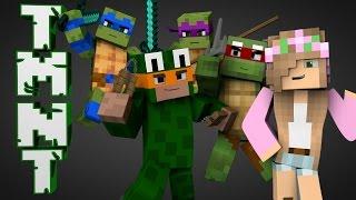 getlinkyoutube.com-Minecraft Parody  - TEENAGE MUTANT NINJA TURTLES w/ Little Kelly