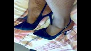 getlinkyoutube.com-Pantimedias de red, zapatos de tacon alto