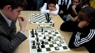 getlinkyoutube.com-GM Magnus Carlsen vs NM James Black