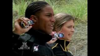 getlinkyoutube.com-Power Rangers Operation Overdrive - Black and Yellow Rangers Morph