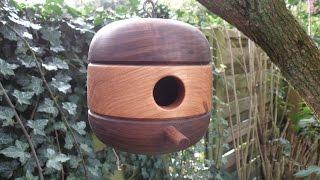 getlinkyoutube.com-Woodturning - ''retro'' style birdhouse