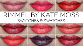 getlinkyoutube.com-Rimmel By Kate Moss Lipsticks Swatches | Makeup Declutter