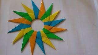 getlinkyoutube.com-Cara Membuat Origami Shuriken Ninja 16 Mata Pisau | Origami Shuriken Ninja