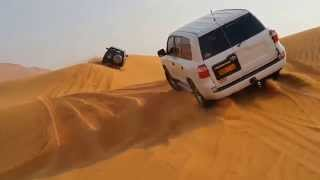 getlinkyoutube.com-Toyota Land Cruiser and Nissan Patrol VTC dunebashing in UAE