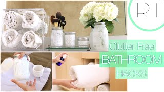 getlinkyoutube.com-Clutter Free Bathroom Hacks + DIY