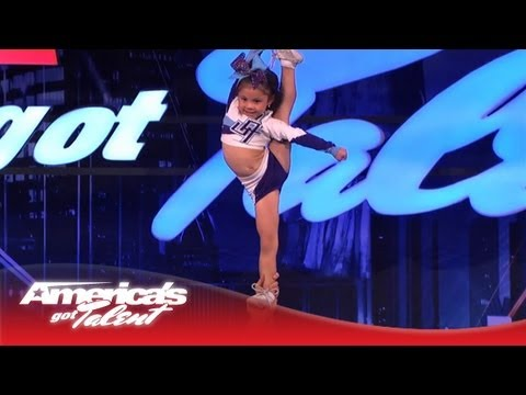 5-Year-Old Darby Is a High Flying Stunting Cheerleader - America's Got Talent