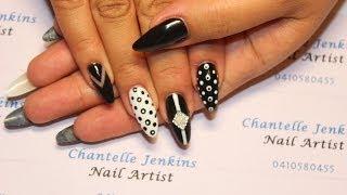getlinkyoutube.com-**MONOCHROME NAILS ** Nail art tutorial....