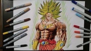 getlinkyoutube.com-Drawing Broly ► The Legendary Super Saiyan [Dragon Ball Z]