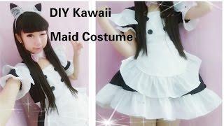getlinkyoutube.com-Kawaii Anime Cosplay DIY - How to Make Neko Maid Cafe Costume/outfits(Easy& adorable)