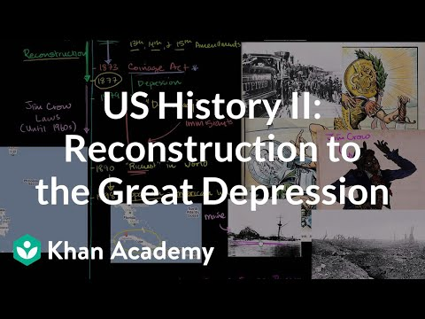 US History Overview 2 - Reconstruction to the Great Depression