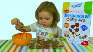 getlinkyoutube.com-Шоколадная фабрика делаем шоколадные конфетки из Киндера make chocolate candy of Kinder