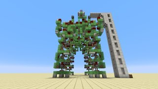 getlinkyoutube.com-Controllable Walking Robot with TNT Cannon [No Commandblocks/Mods] in Minecraft