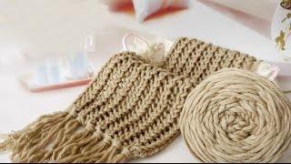 getlinkyoutube.com-Hướng dẫn đan khăn kiểu 1#