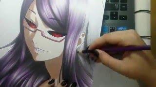 getlinkyoutube.com-Speed Drawing - Kamishiro Rize (Tokyo Ghoul)