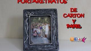 Portafotos de carton y papel - Picture frame cardboard and paper