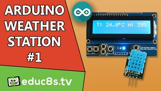 getlinkyoutube.com-Arduino Project: Temperature and Humidity monitor Tutorial with DHT11 (or DHT22) sensor LCD shield.
