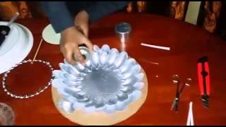 getlinkyoutube.com-عمل فني بملاعق البلاستيك
