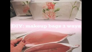 getlinkyoutube.com-DIY Makeup Bag - (2) Two ways of Sewing