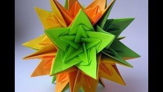 getlinkyoutube.com-Christmas Kusudama Nordblumen by Irina Krivyakina - Yakomoga Origami tutorial