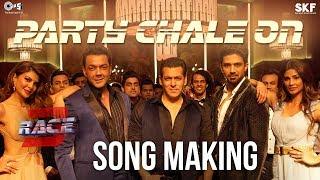 Party Chale On Song Making - Race 3 Behind the Scenes | Salman Khan | Mika Singh, Iulia Vantur width=