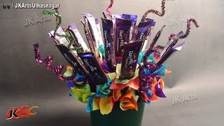 DIY Chocolate Bouquet - Valentine's Day Gift Idea  - JK Arts 628