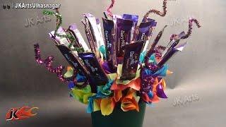 getlinkyoutube.com-DIY Chocolate Bouquet - Valentine's Day Gift Idea  - JK Arts 628