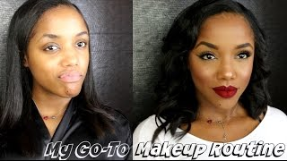 getlinkyoutube.com-My Go To Makeup Routine | Highlight & Contour, Liner, Lips & Lashes | Ellarie