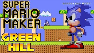 getlinkyoutube.com-Super Mario Maker - Green Hill Zone Act 1 (With Sonic Sounds!)