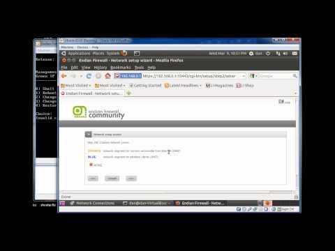 Endian Firewall (EFW) Install Configuration Dialogue