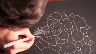 getlinkyoutube.com-Accretion Disc Geometric ASMR Drawing