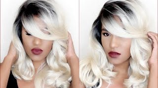 getlinkyoutube.com-Uniwigs Angelia Synthetic Lace Front Wig Review