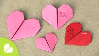 getlinkyoutube.com-Corazones de Origami para San Valentin  //  Origami Heart