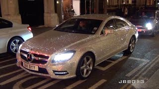 getlinkyoutube.com-Crazy Mercedes Covered in One Million Swarovski Crystals in London!
