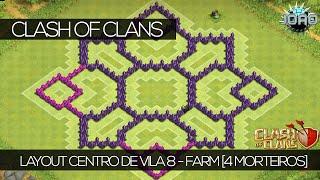 getlinkyoutube.com-Clash Of Clans - Layout Centro De vila 8 - FARM [4º MORTEIRO]
