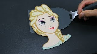 getlinkyoutube.com-Pancake Art - Elsa (Frozen | Frozen Fever | Disney Princess) by Tiger Tomato