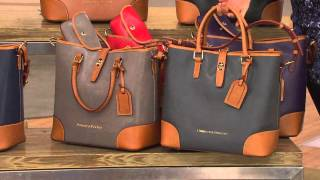 getlinkyoutube.com-Dooney & Bourke Embossed Pebble Leather Shelby Shopper with Leah Williams
