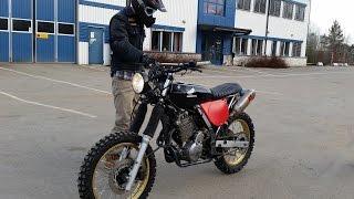 getlinkyoutube.com-Rickys Honda Nx650 Dominator scrambler first testride