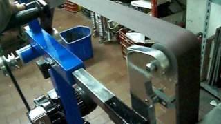 getlinkyoutube.com-levigatrice a nastro home made belt grinder