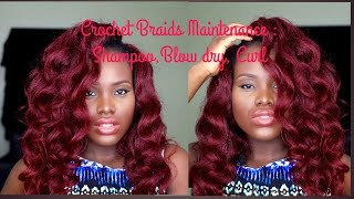 getlinkyoutube.com-How To|| Maintain Crochet Braids|| Shampoo|| Blow Dry || Curl || Tai-Lo