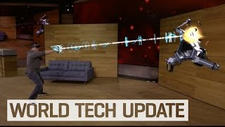 getlinkyoutube.com-HoloLens' mixed reality is gaming on steroids